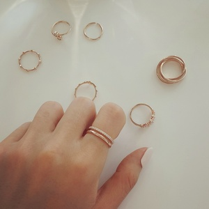 doble line RG silver ring