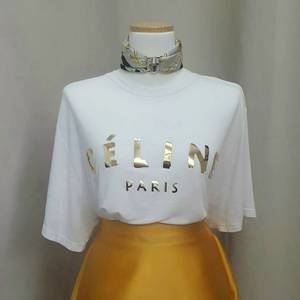 celine paris golden t-shirt